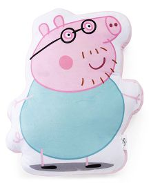 Peppa Pig Daddy Pig Plush Pillow Pink Green - 44 cm