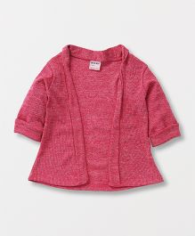 Button Noses Front Open Shrug - Pink