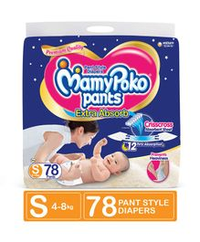 MamyPoko Extra Absorb Pant Style Diapers Small - 78 Pieces