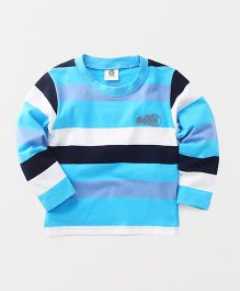 Watermelon Stylish Stripe T-Shirt - Blue & White
