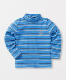 Watermelon Trendy Stripe T-Shirt - Blue