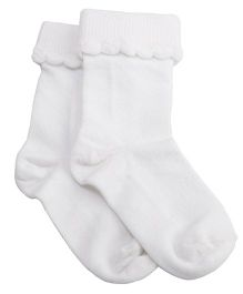 NeedyBee Ankle Length Socks - White