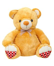 Liviya Teddy Bear Soft Toy With Checks Paw Brown - Height 54 cm