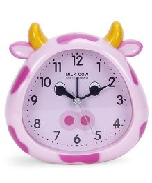 Cow Face Shape Clock - Pink Purple