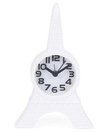 Eiffel Tower Shape Clock - White