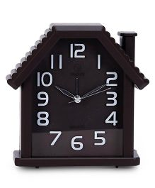 House Shape Alarm Clock - Coffee Brown