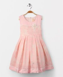 Smile Rabbit Gorgeous Flower Design Dress - Pink
