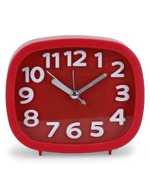 Square Shaped Alarm Clock - Red
