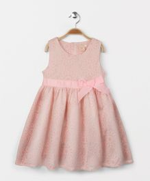 Smile Rabbit Flowery Print Dress - Pink