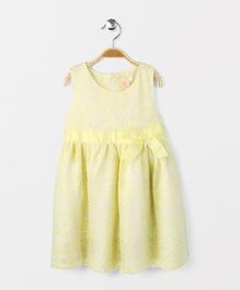 Smile Rabbit Flowery Print Dress - Yellow