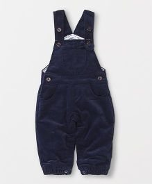 TBB Corduroy Flower Print Dungaree - Dark Blue