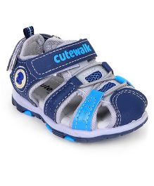Cute Walk by Babyhug Sandals - Blue Grey