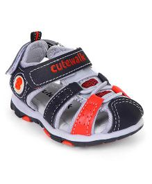 Cute Walk by Babyhug Sandals -  Black Red