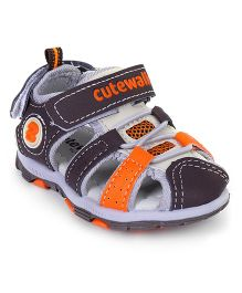 Cute Walk by Babyhug Sandals - Brown Orange