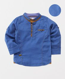 ZY & UP Chinese Collar Shirt - Blue