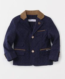 ZY & UP Stylish Jacket With 2 Front Pockets - Blue & Brown