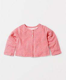 Yiyi Garden Dot Print Top - Peach