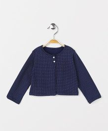 Yiyi Garden Dot Print Top - Navy Blue