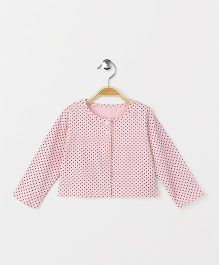 Yiyi Garden Dot Print Top - Light Pink
