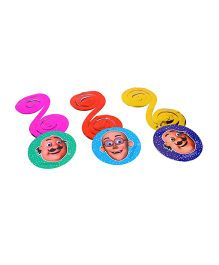 Motu Patlu Paper Dangling Swirls - 6 Pieces