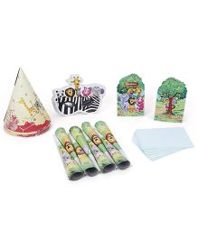 Themez Only Jungle Theme Birthday Party Kit Pack of 5 - Multi Color