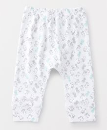 YiYi Garden Printed Leggings - White