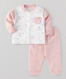 Superfie Fish Print Winter Set - Pink