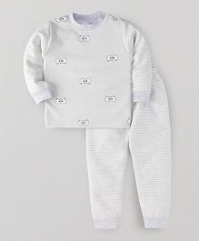 Superfie Cute Eyes Print Winter Set - Grey
