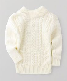 Superfie Knitted Sweater - White