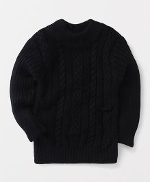 Superfie Knitted Sweater - Black
