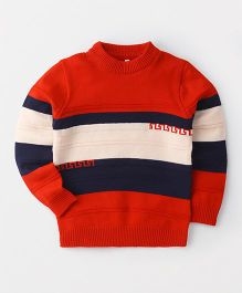 Superfie Striped Sweater - Red