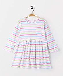 YiYi Garden Striped Print Dress - White