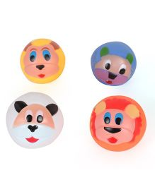 Kids Wagon Doodle Balls Squeaky Bath Toy Multicolor - Pack Of 4