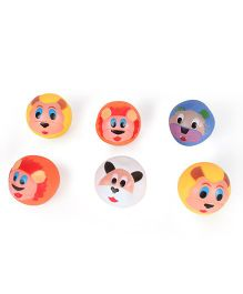 Kids Wagon Doodle Balls Squeaky Bath Toy Multicolor - Pack Of 6