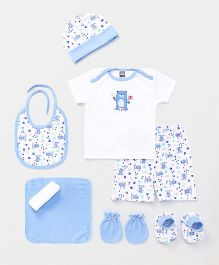 Mee Mee Clothing Gift Set Pack of 9 - Blue & White