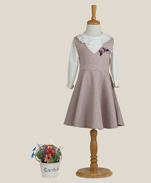 Aww Hunnie Dress With Clown Collar Inner - Pink