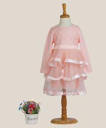 Aww Hunnie Lace Tiered Dress - Pink