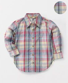 Spring Bunny Checkered Cotton Shirt - Multicolor
