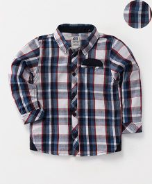 Spring Bunny Full Seeves Palid Shirt - Navy