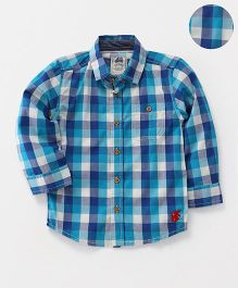 Spring Bunny Checks Full Sleeves Shirt - Blue