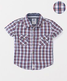 Spring Bunny Short Sleeves Plaid Shirt - Multicolor