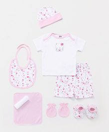 Mee Mee Infant Clothing Gift Set Pack Of 9 - Pink White