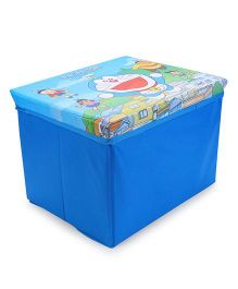 Doraemon Wooden Toy Storage Box - Blue