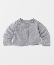 Yiyi Garden Full Sleeves Jacket Styled Top - Grey