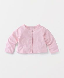 Yiyi Garden Full Sleeves Jacket Styled Top - Pink