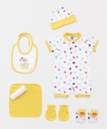Mee Mee Clothing Gift Set Balloon & My Special Day Print Pack Of 8 - Yellow and White