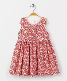 Yiyi Garden Sleeveless Frock - Red