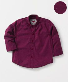 Gini & Jony Full Sleeves Printed Shirt - Purple