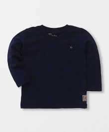 Gini & Jony Full Sleeves Plain Top - Navy Blue