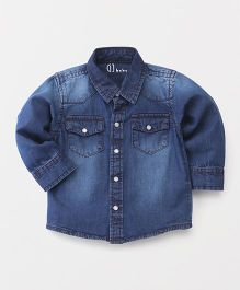 Gini & Jony Full Sleeves Stone Wash Denim Shirt - Blue